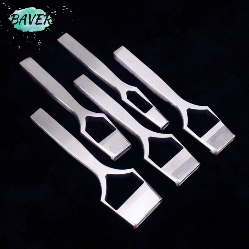 Leather Craft Belt Band Oval Hole Punch Tools Stitching Diy Strap Oblate Cutter Chisel Tools/set