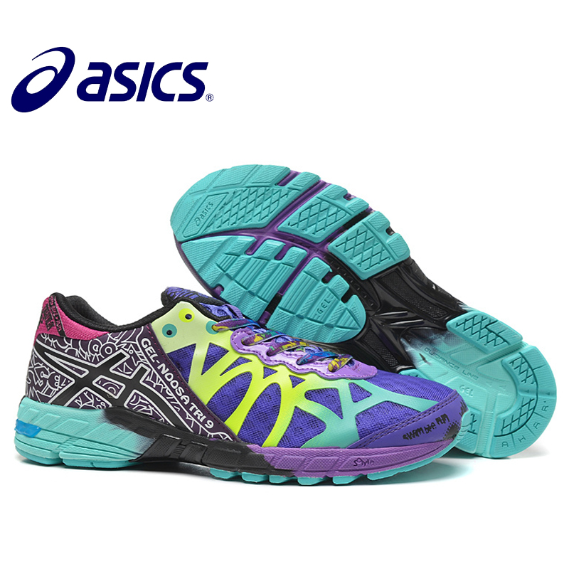 New Arrival Official Asics Gel-Noosa TRI9 Woman's Shoes Breathable Stable Running Shoes Outdoor Tennis Shoes Classic Hongniu