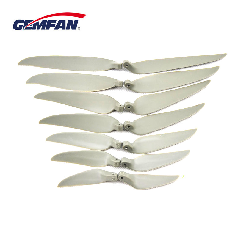 1Pair Gemfan Electric Nylon Folding Propeller 7060 7540 8050 9050 1060 1180 1280 1380 For RC Airplane Multicopter Quadcopter
