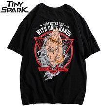 2020 Lente Hiphop T shirt Mannen Krachtige Handen Gedrukt T shirts Harajuku Streetwear Zomer Tshirt Korte Mouw Tops Tees Katoen