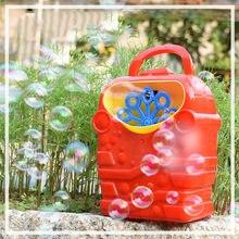 Juguete de máquina de Burbujas de jabón para niños, soplador de Burbujas de colores, pistola portátil automática, juguetes de fiesta en casa al aire libre, Burbujas