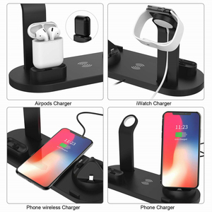 Image 5 - Qi Wireless Charger 4 in 1 Apple Watch Charger Dock iphone Charging Station Micro USB Type C Stand Fast Charging For All Phone