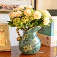 Murphy Ceramic Jarrones Decorativos Moderno Floret Bottle Artical Sitting Room Adornment Simulation Flower Art Suit Dry Flowers