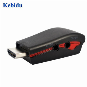 Image 5 - KEBIDU HDMI to VGA Video Converter Box Adapter Adaptor with 3.5mm AV Audio Cable For PC HDTV For PS3 DVD black/white