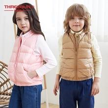 THREEGUN KIDS Girls Boys Kids 90% Duck Down Gilet Turtle Neck Vest Winter Children Toddler Outerwear Super Light Winter Clothing