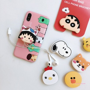 Image 4 - Universal Socket Phone Stand Bracket Expanding Stand Stretch Grip Phone Holder Finger Cute Cartoon Stand for Iphone 6s 7 8 X XS