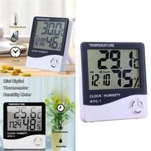 1 шт электронный термометр гигрометр с ЖК дисплеем