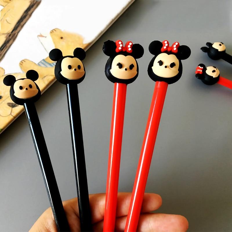 Disney Mickey Minnie 0.5mm Gel Pen Cartoon Cute Signing Pen Student Writing Supplies Stationery Office School Supplies Kids Gift