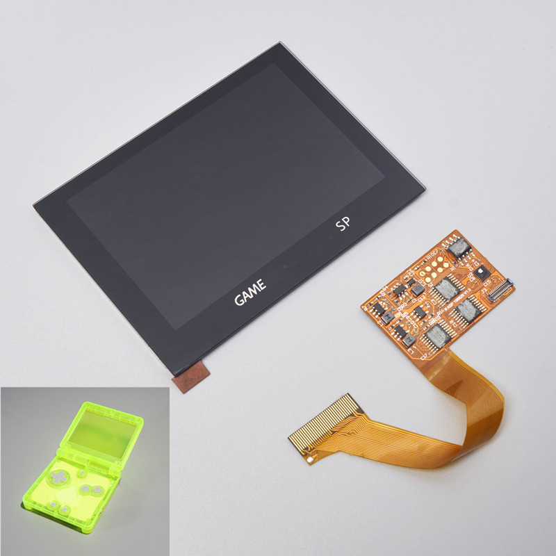 LCD KITS SHELL HOUSING 5 LEVEL BRIGHTNESS HIGHLIGHT GBA SP IPS LAMINATED DISPLAY FOR GAMEBOY ADVANCE SP BACKLIGHT PRE-CUT SHELL(China)