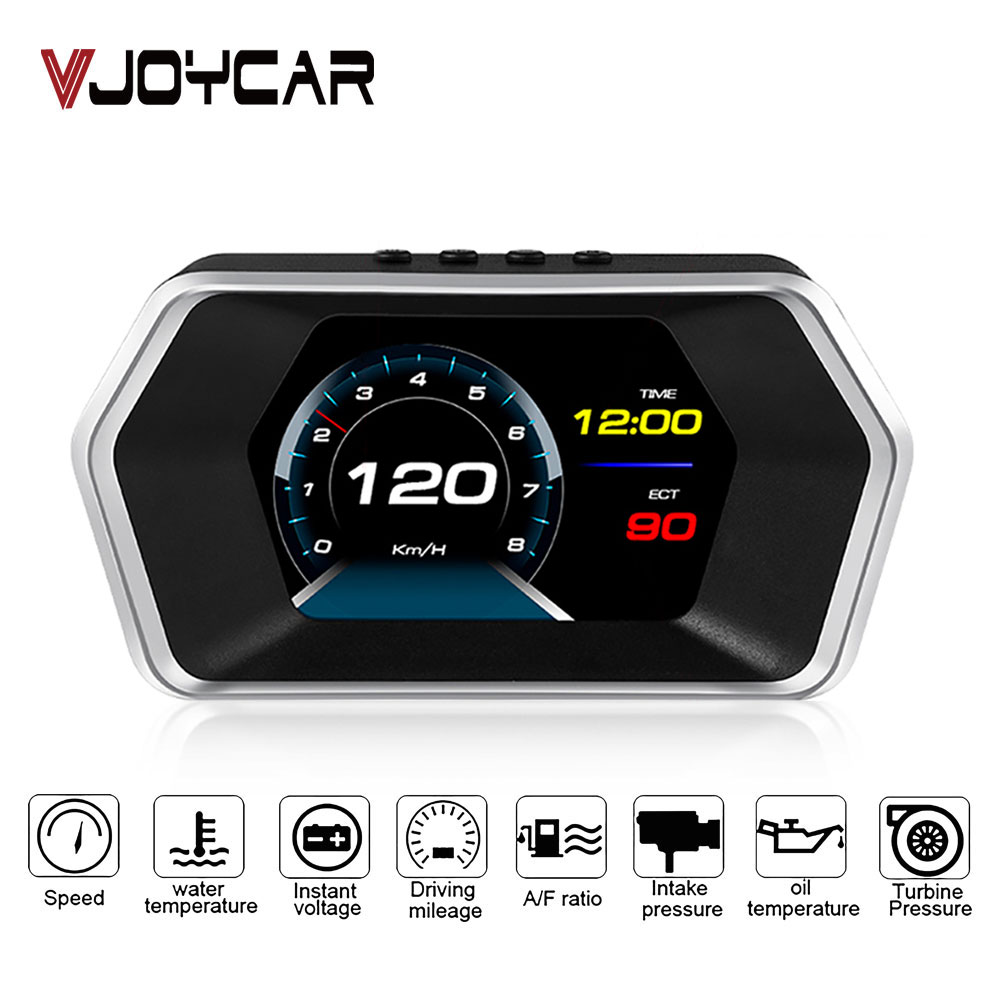 TIMPROVE Universal Car HUD Head Up Display OBD2 GPS Dual Mode Speedometer Tachometer Display MPH Mileage Measurement Water Temperature Engine RPM Engine Error Code Clear Batte Fuel Consumption