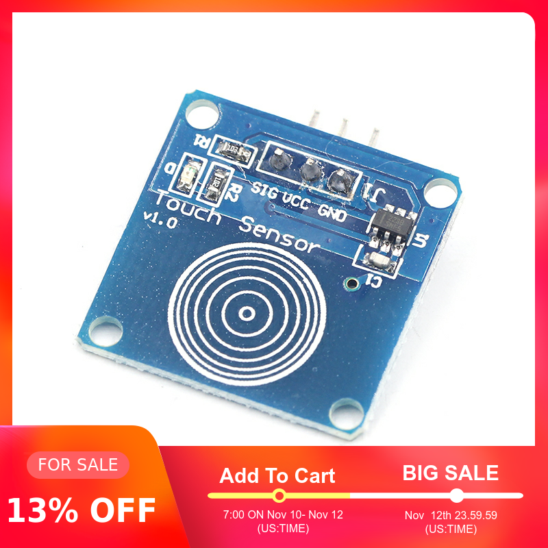 TTP223B 1 Channel Jog Digital Touch Sensor Capacitive Touch Touch Switch Modules Accessories For Arduino