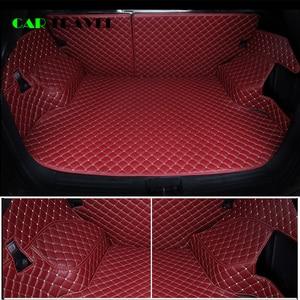 Image 2 - Custom leather Car Trunk Mats For mitsubishi pajero sport outlander x grandis ASX Lancer Galant 2018 Car Cargo Rear Boot Liner