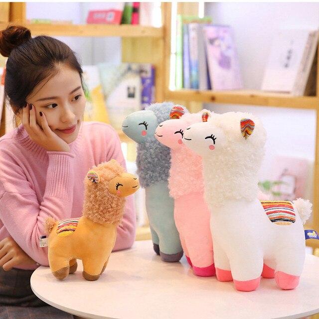 Фото 25 см 45 kawaii альпака лама плюшевые игрушки животные мягкие