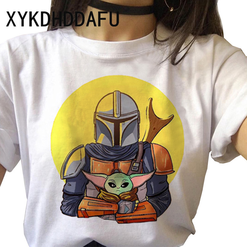 Baby Yoda The Mandalorian T Shirt Women Aesthetic Bebe Yoda Tshirt Cute Anime Graphic Kawaii T shirt Female Clothes Top TeesT-Shirts   -