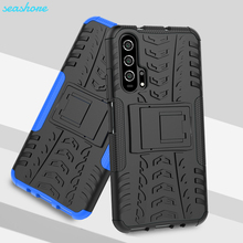 For Honor 20 Pro Silicone Soft TPU + PC Heavy Duty Armor Back Cover Phone Case For Huawei Honor 20 YAL-AL10 YAL-21 Cover Coque yal l41 yal l21 honor 20 pro fashion magnetic business case for huawei honor 20 pro artificial leather wallet flip stand cover