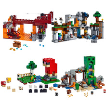 2019 New  My World Model Toys The Creeper Mine Bricks Compatible Legoines Minecrafteding 21155 Building Blocks for Children