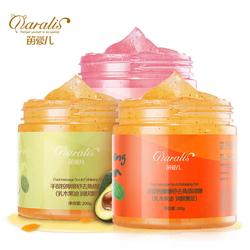 Daralils 3pcs/lot Hand + Foot + Body Exfoliating Cream Whitening Brightening Peeling Cream Gel Feet Scrub Removal