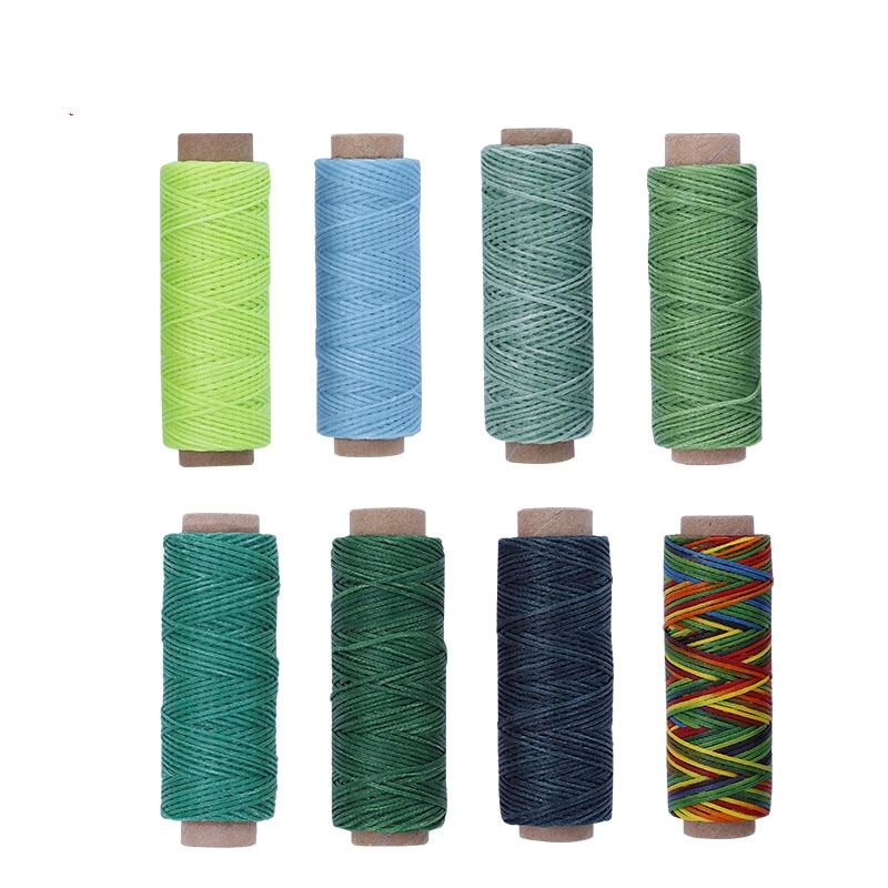 MIUSIE 150D 50m Sewing Thread Wax Line DIY Handmade Wear-Proof Leather Needlework Fiber Yarn Tool Hand Sewing Accessories