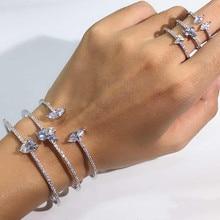Новое поступление, круглая форма, изысканная микро застежка, Браслет-манжета, женский браслет и кольцо-манжета, ювелирное изделие