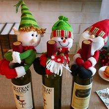 New Year 2020 Christmas Wine Bottle Dust Cover Snowman Elf Xmas Christmas Decoration for Home Natal Dinner Table Decor Noel Gift