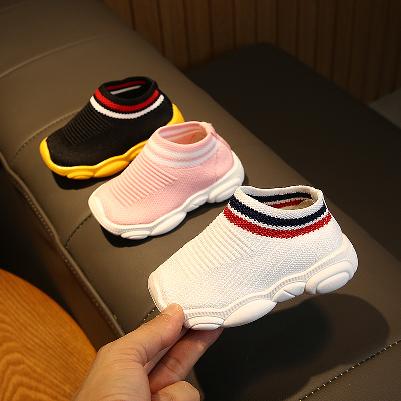 Soft Bottom Toddler Shoes 0-3 Years Old Mesh Breathable Sports Shoes Baby Socks Shoes Non-slip Casual Shoes