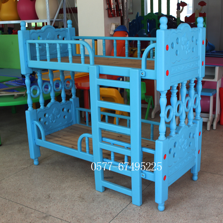 Carton  Twin Baby Kindergarten Bed Nap Bed Baby Cot Plastic Children's Bed Exit Quality Guardrail Sheet Double Bed Manufacturer