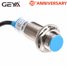 цена на GEYA 5mm Sensing Distance Inductive Proximity Switch NPN PNP DC 10-30V Proximity Sensor DC 3 Wire 4 Wire NO NC M18 Screw Size