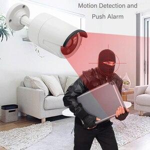 Image 2 - Amorvue 8CH 5MP POE מצלמה מערכת מרחוק גישה 5MP Bullet IR חיצוני IP מצלמה עמיד למים ראיית לילה מעקב וידאו סט