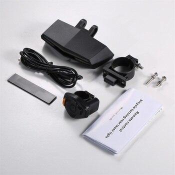 ABS умный задний лазерный велосипедный светильник, велосипедная лампа, LED USB Перезаряжаемый беспроводной пульт дистанционного управления, ве...