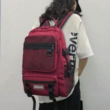 Multi-pockets Women Backpack Solid Color Teenage Girls Schoolbag Fashion Female Backpack Shoulder Bag Casual Outdoor Travel Bags