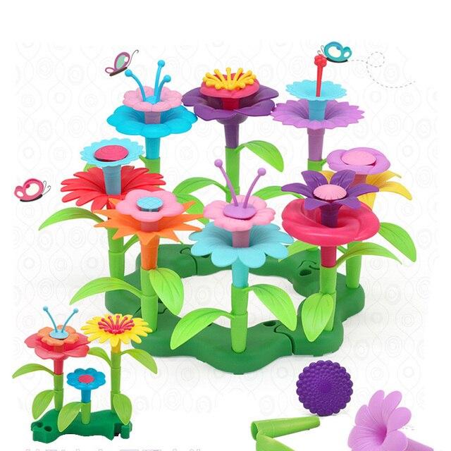 46pcs-set-DIY-Flower-Garden-Toys-For-Children-Girls-Flower-Interconnecting-Blocks-Bricks-Creative-Educational-Assembly