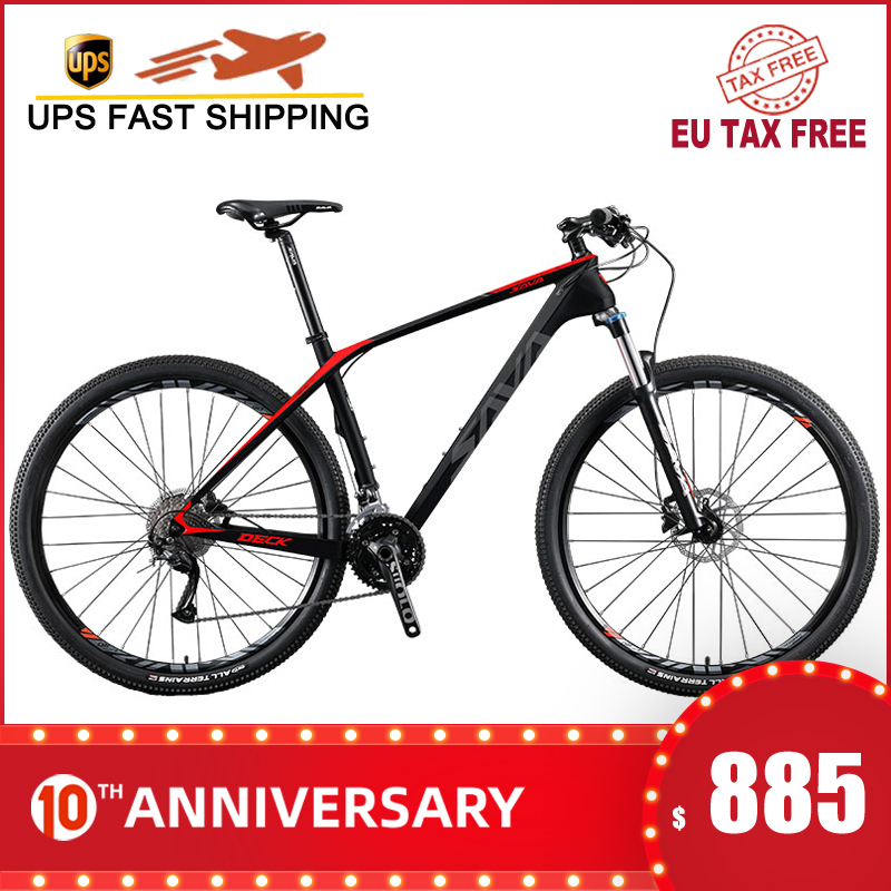 SAVA Bicycle-Bikes Bicicleta Mountainbike Mtb Carbon Mens 29 DECK2.0 title=