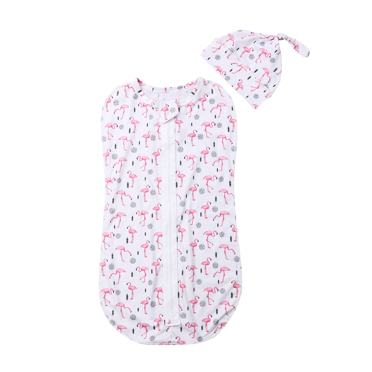 Pudcoco Cute Panta Print Baby Sleeping Bag For Newborns Infant Baby Cotton Zipper Swaddle Blanket Wrap Sleepwear 0-6M