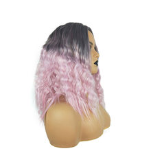 Beauty On Line Synthetic Hair Wigs Ombre 1B/Pink Natural Wave Deep Middle Part Short Bob Wig For Women(China)