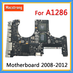 Getestet Original A1286 Motherboard für MacBook Pro 15 Logic Board 2010 2,4G 820-2850-A/B 2011 i7 2,0G 820-2915-A/B 2012