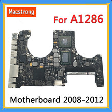 "Getest A1286 Logic Board Voor Macbook Pro 15 ""Moederbord 2.4G 2010 820-2850-A/B I7 2.0G 2011 820-2915-A 2.3G 2012 820-3330-B(China)"