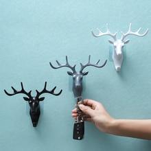 Wall-Hanging-Hook Horns Hanger-Rack Antlers Deer-Head Wall-Decoration Key-Deer Vintage