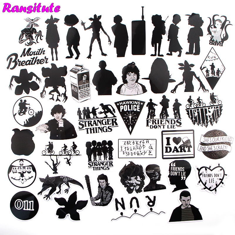 42pcs/set Personality Funny Children's Toy Stickers DIY Luggage Skateboard Motorcycle Mobile Phone Waterproof Stickers R488