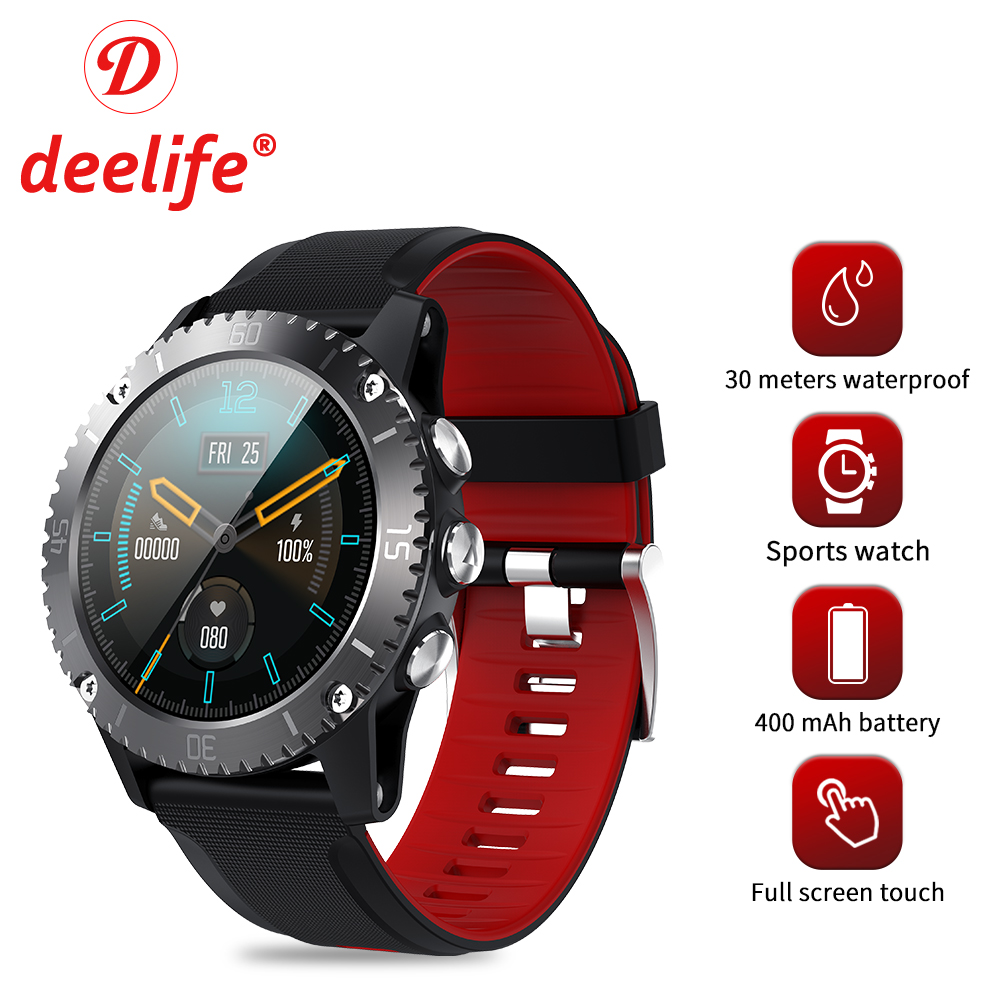 Deelife IP68 Водонепроницаемые Смарт-часы мужские спортивные часы фитнес-трекер плавание Bluetooth Smartwatch подключение Android IOS Whatsapp