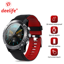 Deelife Smartwatch גברים חכם שעון 2020 לגבר שחייה 30 מטרים עמיד למים מצפן מחובר אנדרואיד IOS ספורט שעונים