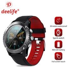 Deelife Smartwatch Men Smart Watch 2020 for Man Swimming 30 Meters Waterproof Compass Connected Android IOS Sport Watches