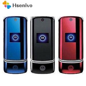 Image 1 - 100% الأصلي موتورولا Krzr K1 الوجه مقفلة GSM بلوتوث MP3 راديو FM الهاتف المحمول تجديد شحن مجاني