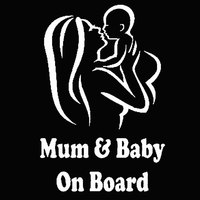 Mum Baby on Board Car Vehicle Body Window Reflective Decals Sticker Decoration Automobiles Decal Car styling 5