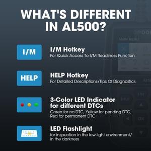 Image 4 - TOPDON AL500 מלא OBD2 סורק רכב OBDII כלי אבחון אוטומטי קוד תקלת קורא קוד לקרוא מנוע לבדוק בדיקת ערפיח תור off IML