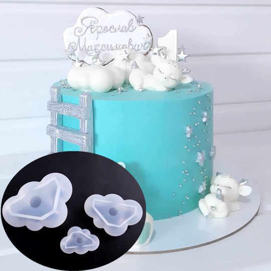 3D ענן צורת שוקולד סיליקון עובש מוס פונדנט קרח קוביית עובש פודינג סוכריות סבון נר תבניות אפיית עוגת קישוט כלי