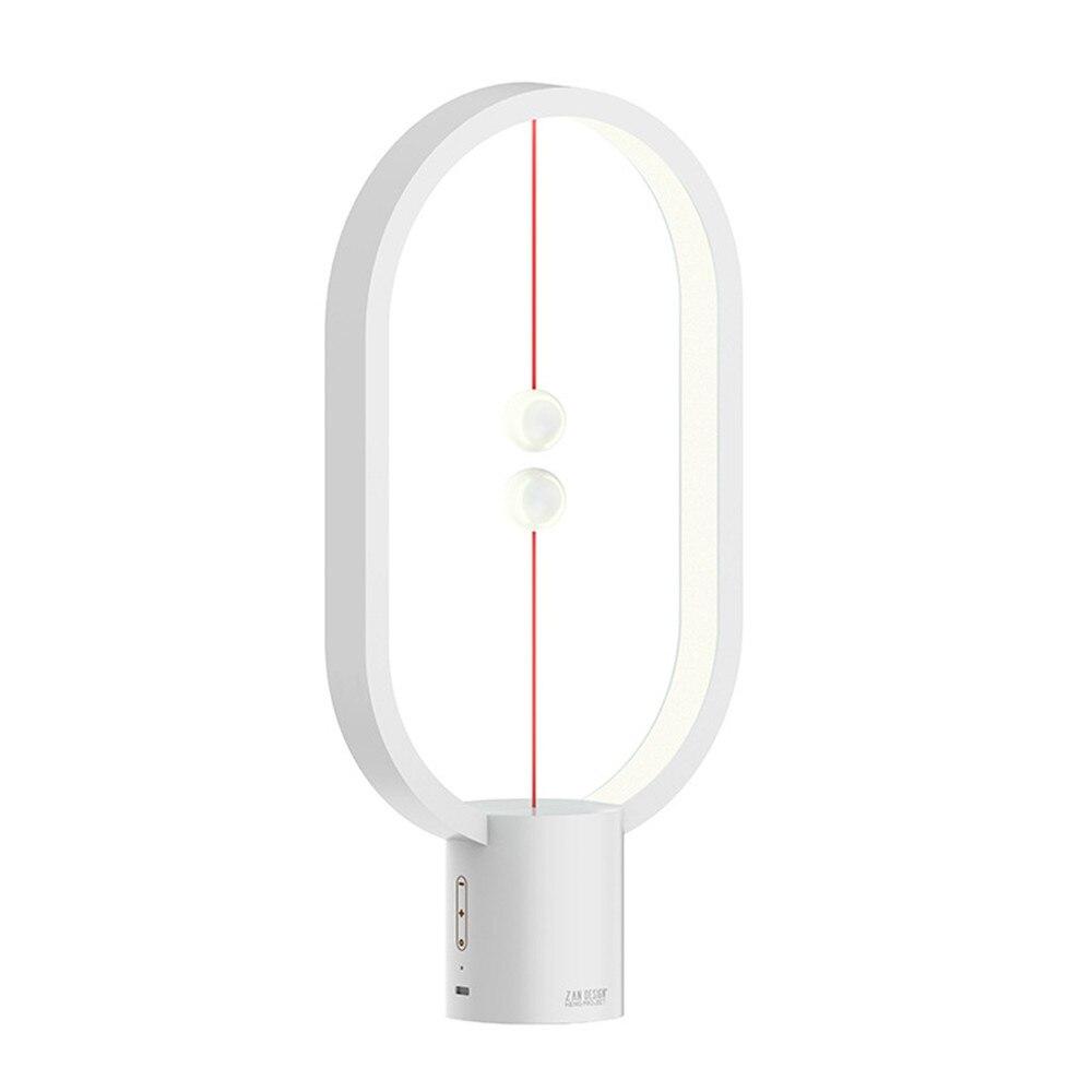 Прямая поставка USB перезаряжаемая Hengpro балансирующая Светодиодная настольная лампа эллипс магнитный переключатель среднего воздуха Уход з...