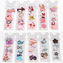 5PCS/Lot Sequin Hair Clips for Girls  Women Hairpin Barrettes Cartoon Animal Hairgrip Headwear Flower Princess Accessories