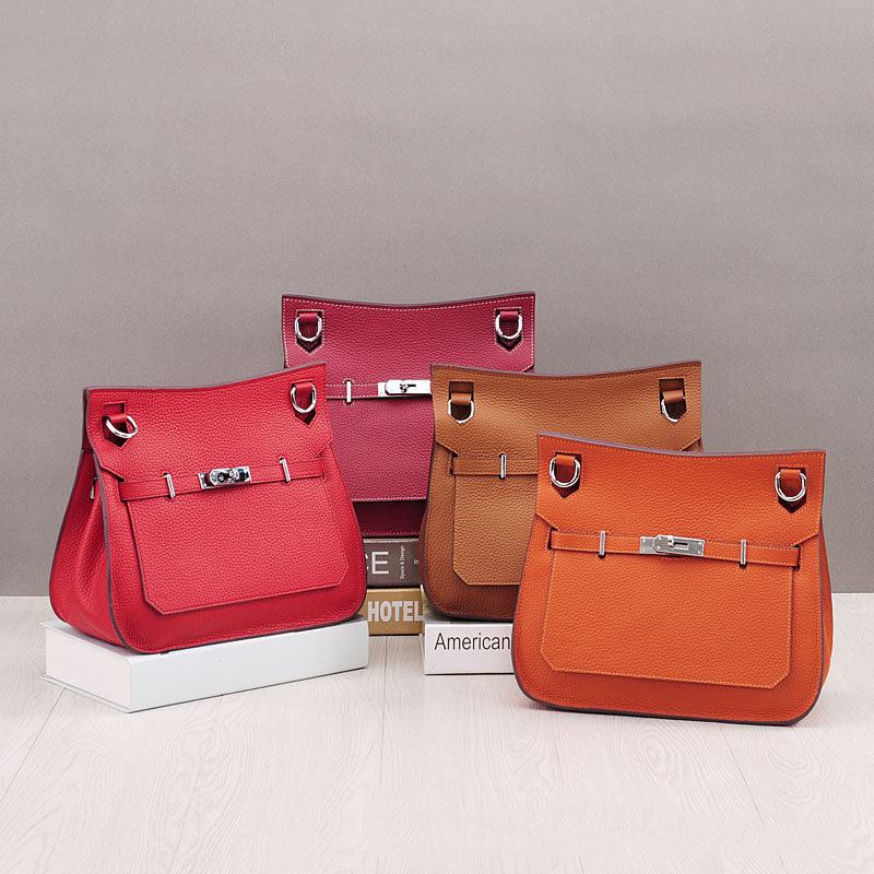 New Arrival High Quality Genuine Leather Women's Shoulder Bag Large Capacity Crossbody Bag Solid Color Soft Skin Leather