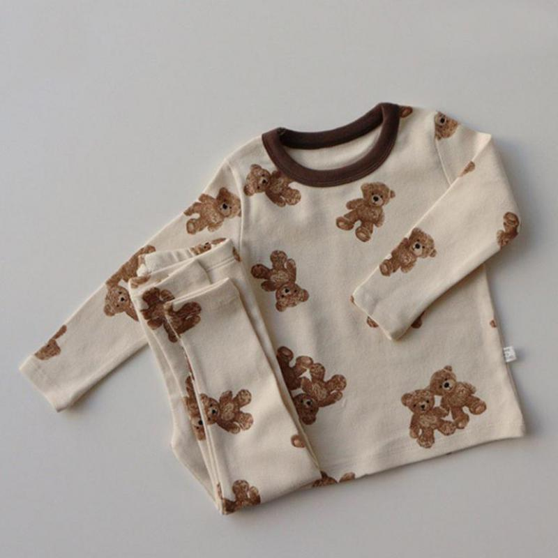 Neugeborene Mädchen Bunny Kleidung Kinder Kleidung Baby Jungen Bär Kleidung Sets Langarm T Shirt + Hosen Outfits Set Kinder 2 stücke Anzug