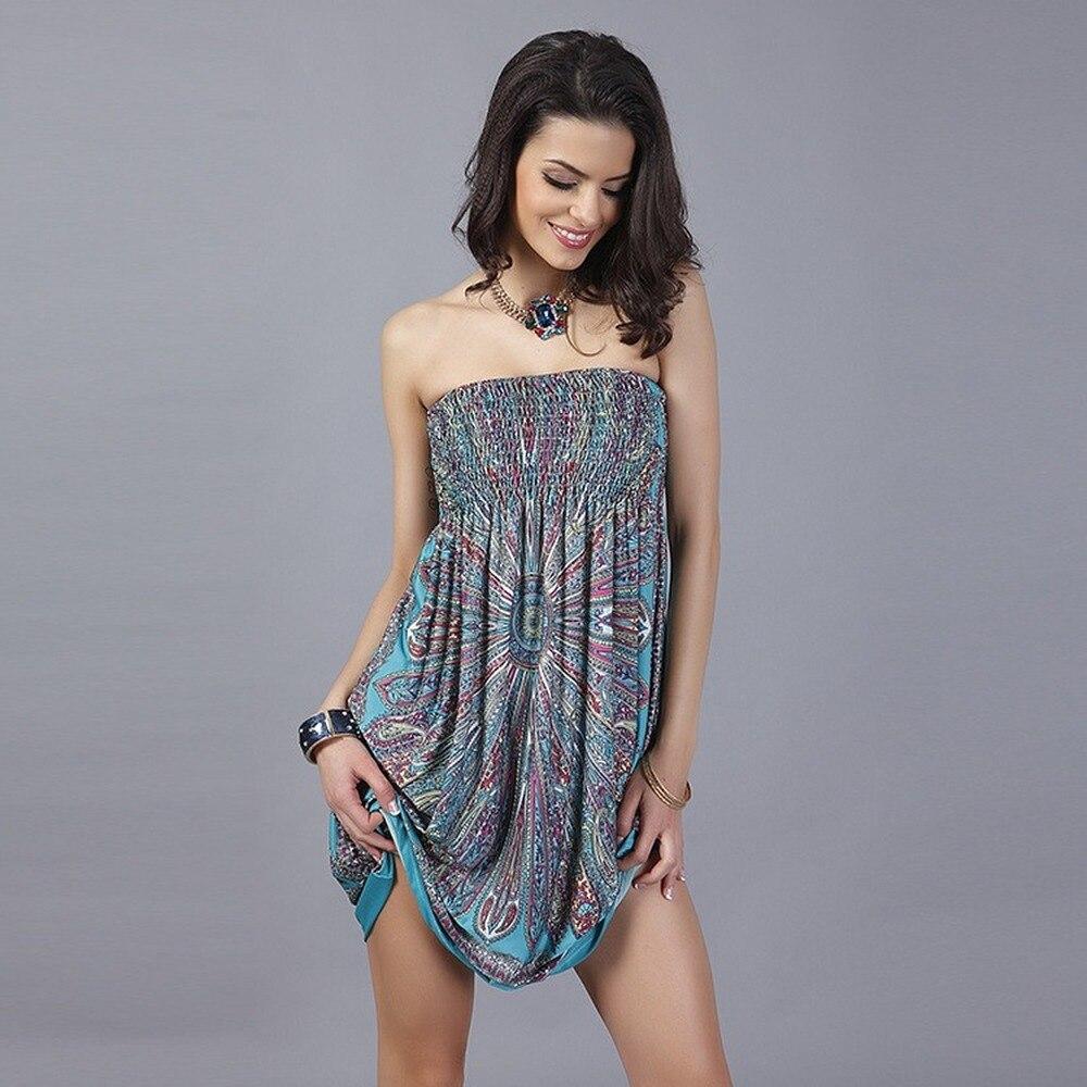 Boho Women Dress Fashion Waist Wrap Tube Dresses Plus Size Ice Silk Maxi Dresses for Women Beach Dress Club Outfits Summer